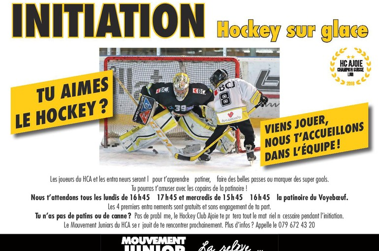 Initiation au hockey