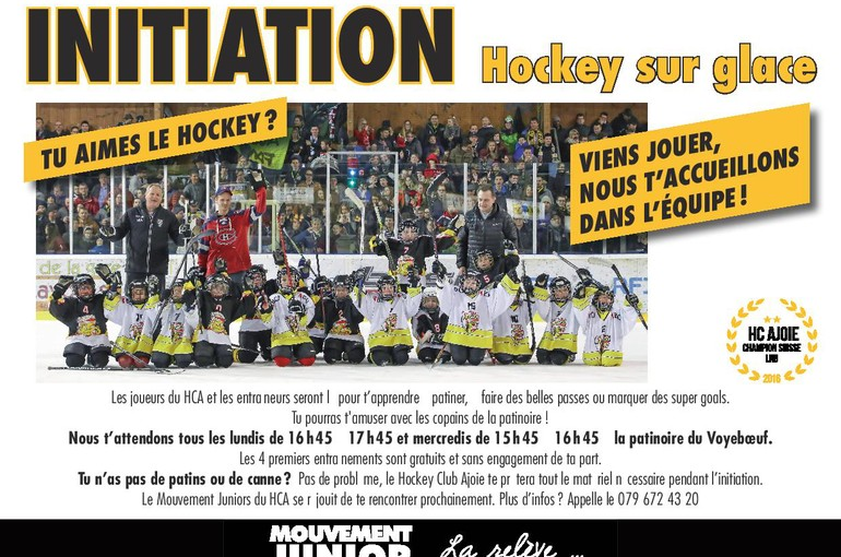 Initiation au hockey sur glace